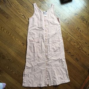 New Chico's Loose Fit Cotton Maxi Dress S